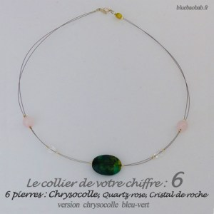 numerologie-collier-6-chrysocolle-quartz-rose