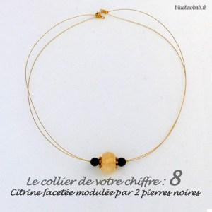 numerologie-collier-8-citrine-jaune-pierre-noire