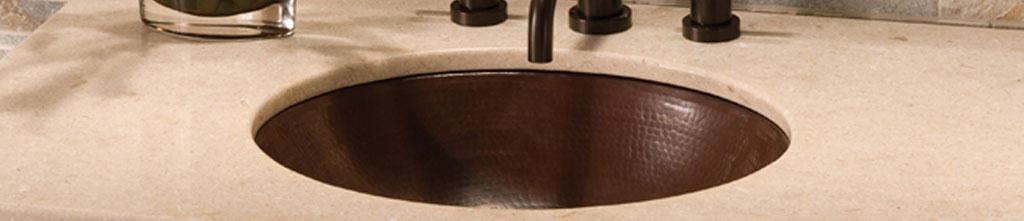 buy undermount bathroom sinks copper