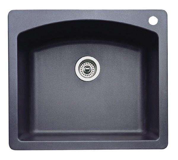 Blanco 44dmd7 Diamond Square Single Bowl Silgranit Drop In Kitchen Sink