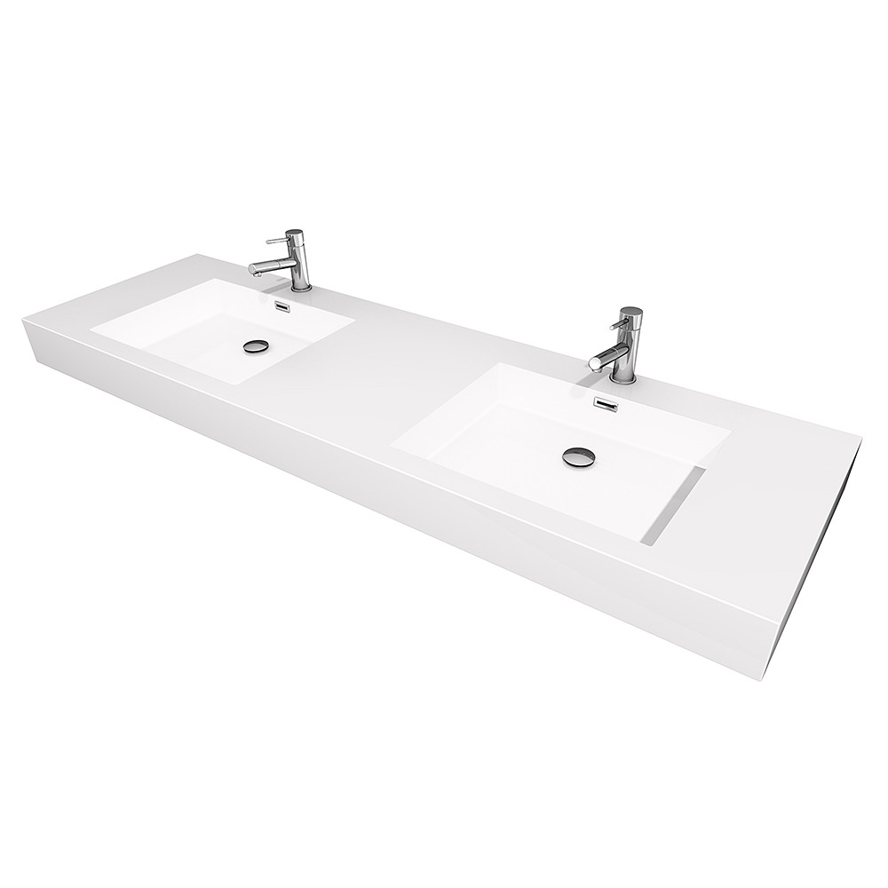 Wyndham WCR410072AR Double Vanity with AcrylicResin Top