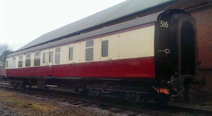 catering buffet set up diagram ford wiring bluebell railway carriages - mk.1 bsk no.35207