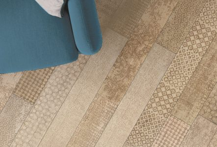 Strip Pattern Undici Engraved Flooring by Listone Giordano