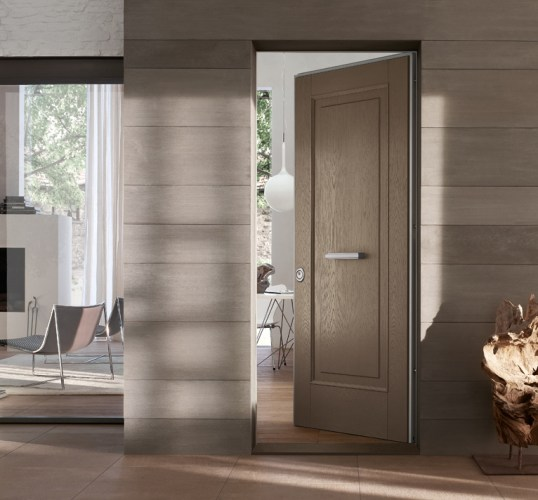 brushed larch beige security door