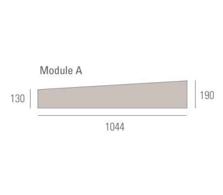Board dimensions Module A 1044x190x130