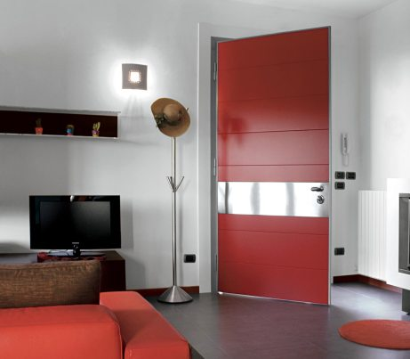 Red Knuckle Hinge Security Door