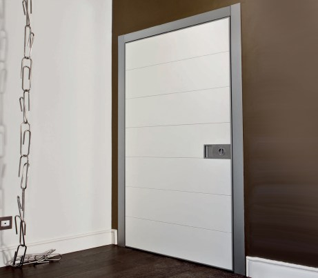Contemporary Pivot Security Door with Architrave