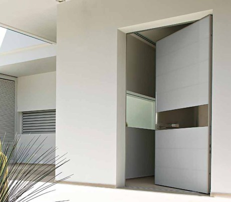 Contemporary Security Door in white