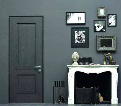 Flush Architectural Security Door in grey