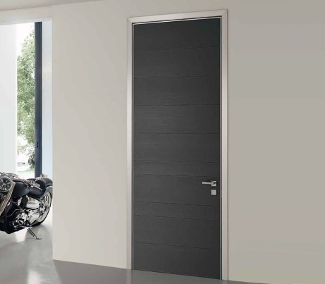 Black interior Security Door with Architrave