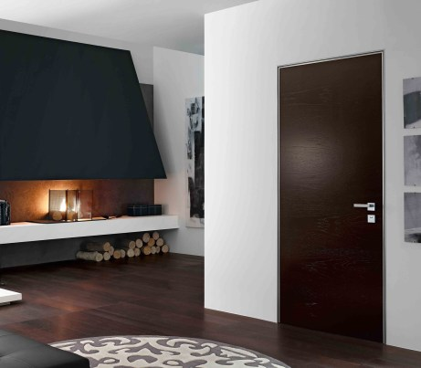 Black interior Security and Fire Door