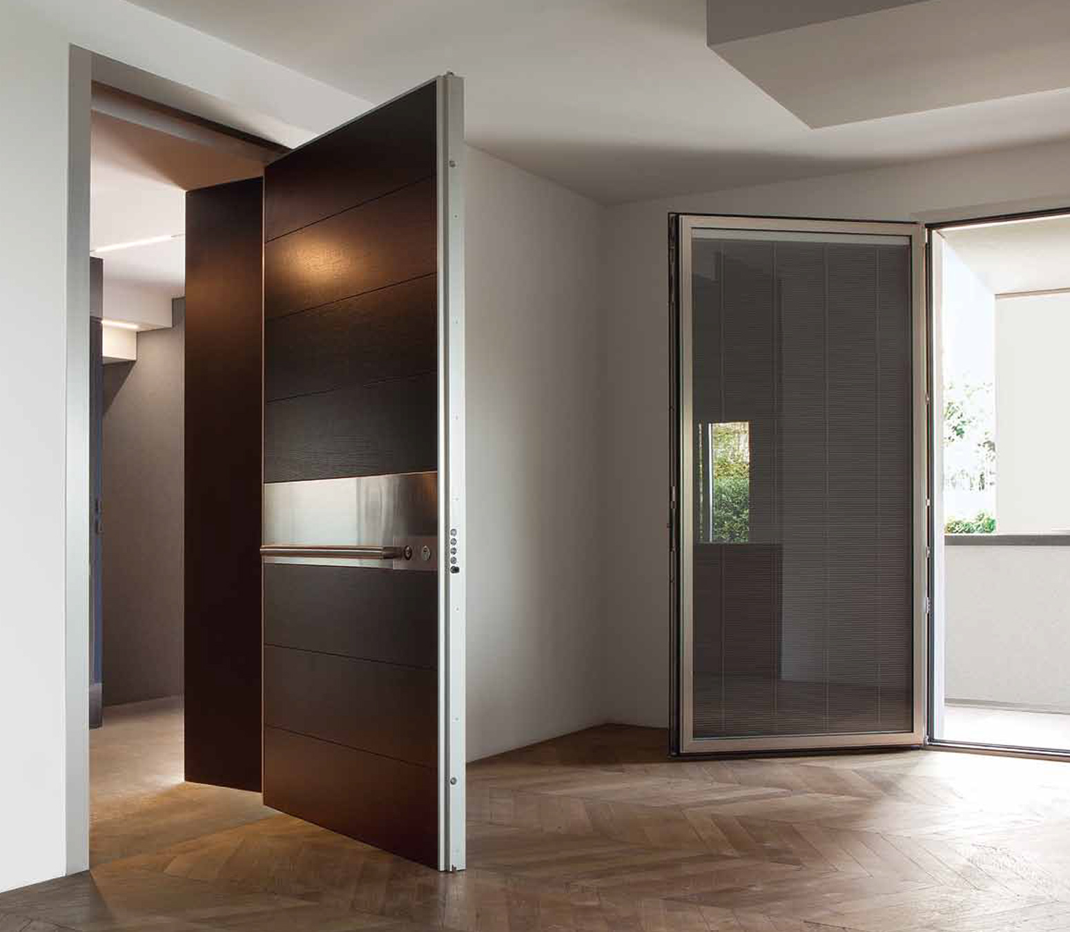 Contemporary + Architrave · Contemporary Door design from Oikos & Synua: Pivot Security Door | Oikos Doors | Bluebell