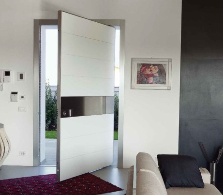 White Security Door for Architectural Entrance