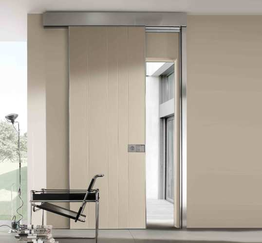 white sliding door with disability compliance