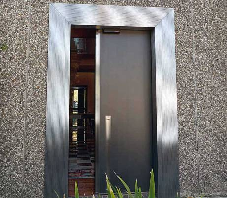 DDA Sliding Security Door in Grey