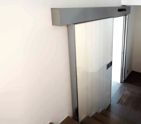 White Sliding Security Door