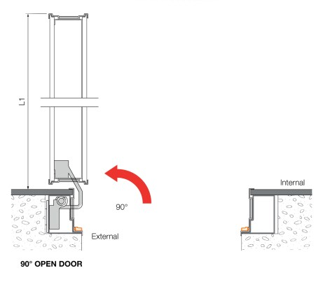 Open Flush security Door for Interiors