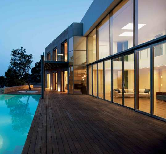 Passive house fenestration design with e-coating