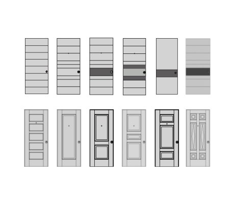 Contemporary Door Models from Oikos