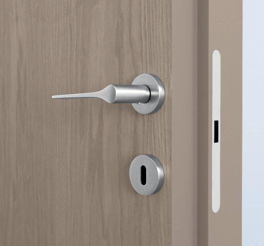 Detail of Door flush both sides of opening