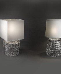 Crystal and fabric Table Lighting