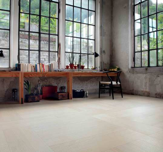 White contemporary Oak Flooring Design