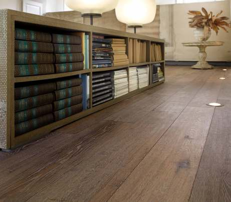 Rustic Wooden Flooring in atmospheric library