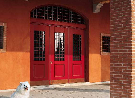 Red Oikos Security Door