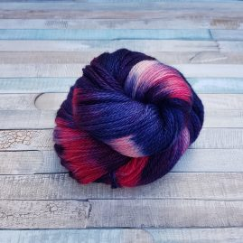 Navy yarn with red flashes