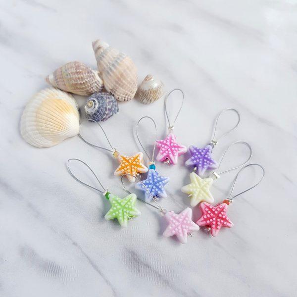 Starfish stitch markers