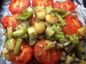 13.ミキサーに入れる野菜を集めて