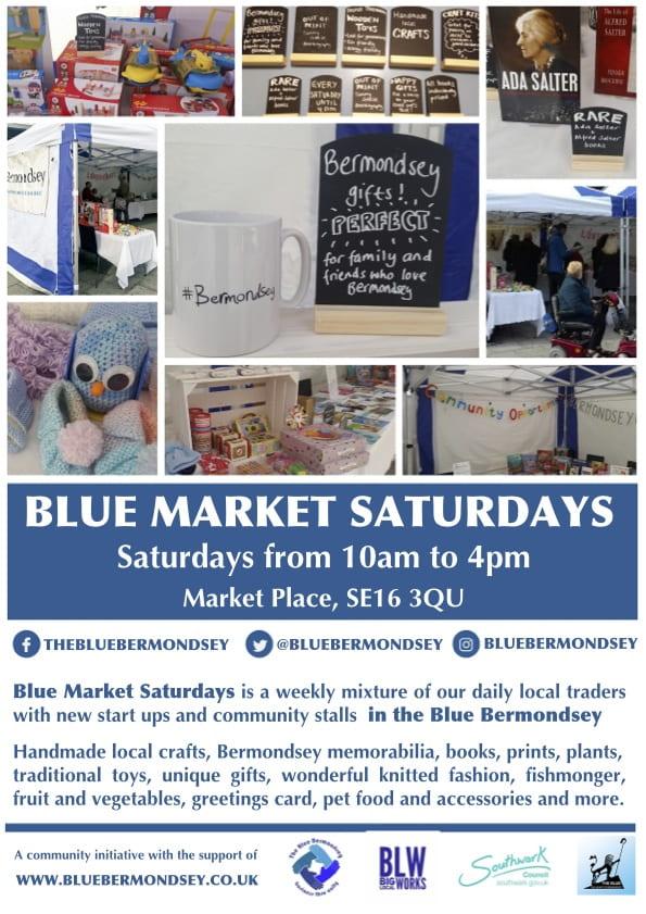 Blue Market Saturdays Poster-min