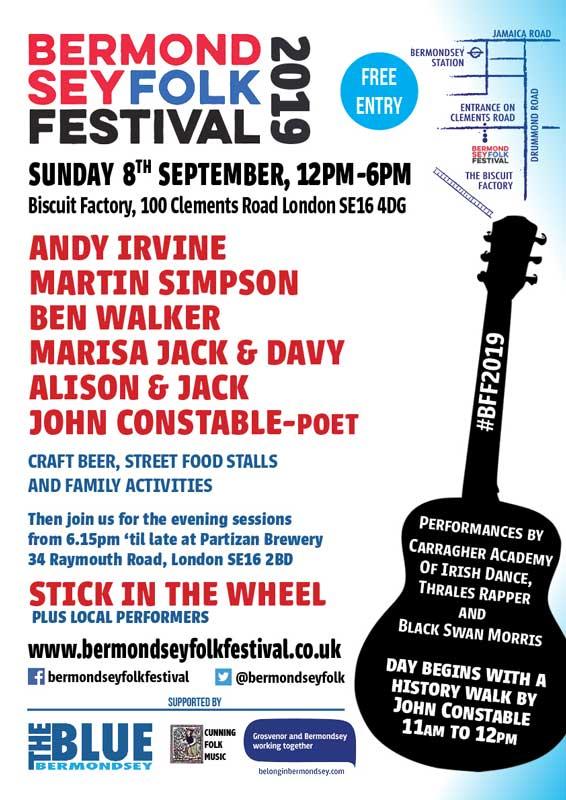 Bermondsey Folk Festival 2019 poster
