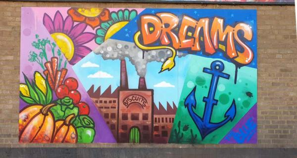 What does the blue mean to you mural dreams