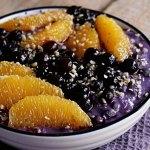 Porridge mit Blaubeeren