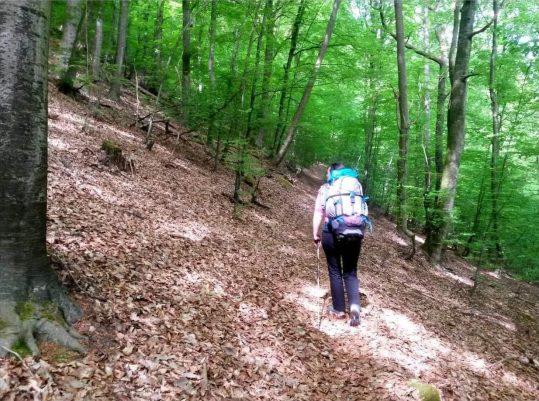 Bergauf mit schwerem Gepäck