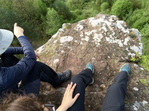 Oben auf dem Fels