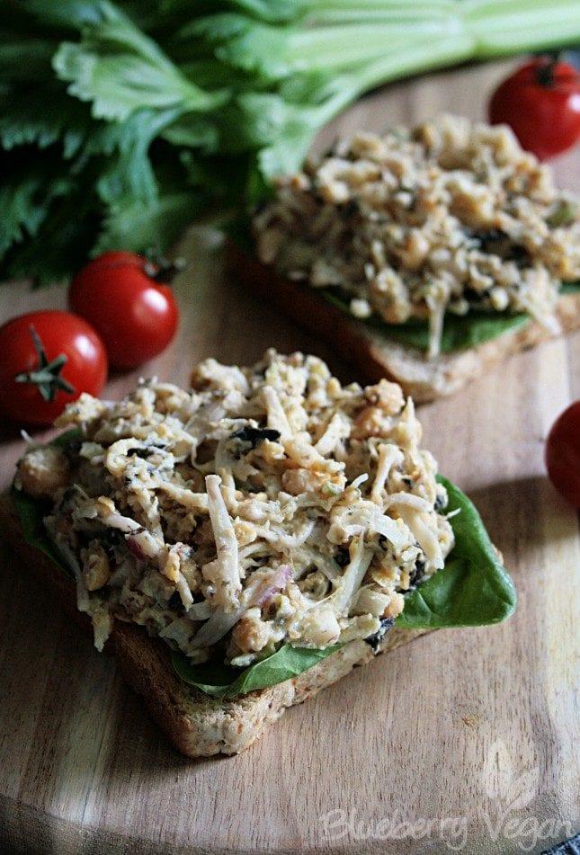 Vegan Jackfruit Tuna Salad – Blueberry Vegan
