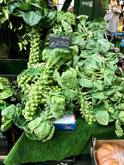 Brussel's sprouts at Borough Market