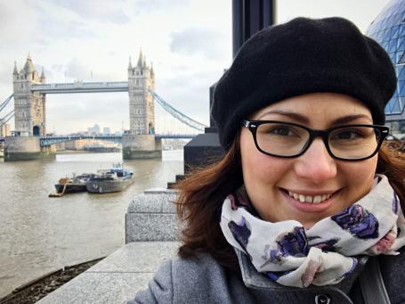 Rina at Tower Bridge