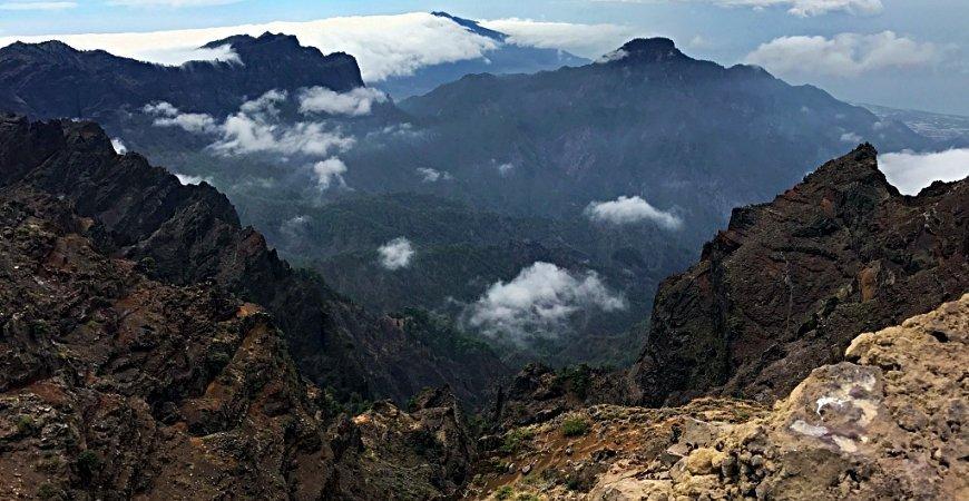 Wandern auf La Palma – Am Krater der Caldera de Taburiente entlang