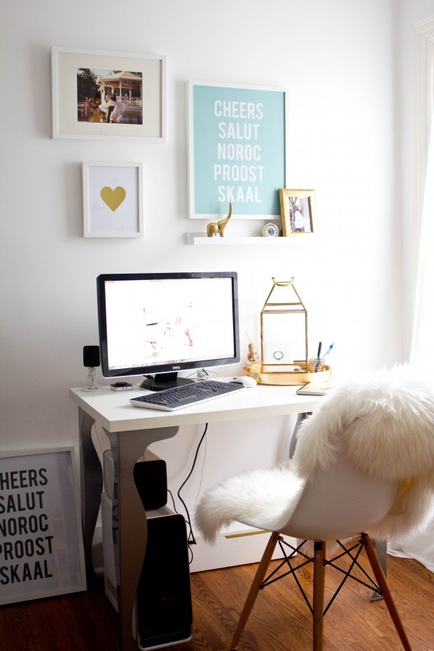 Office Space Makeover and my Favorite Heart Print