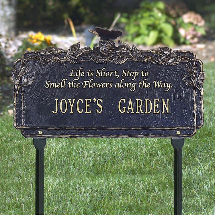butterfly poem personalized garden