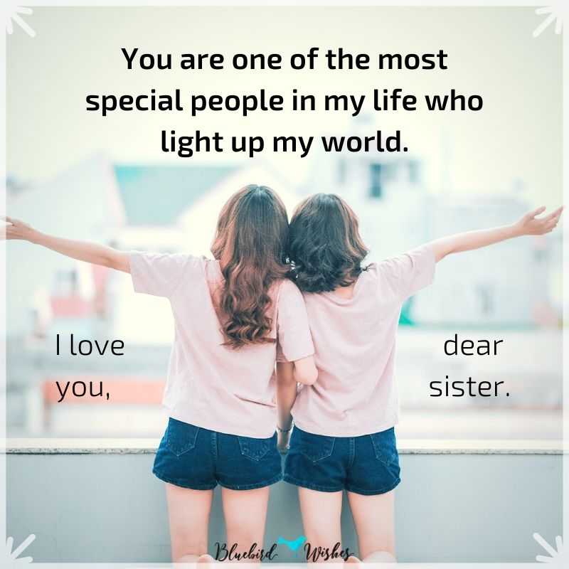 I Love You Sister Quotes Bluebird Wishes
