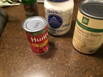 Found some tomato paste & beans... Hmmm.