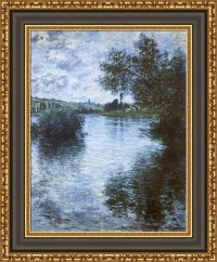 Claude Monet The Seine at Vetheuil Framed Canvas Giclee ...