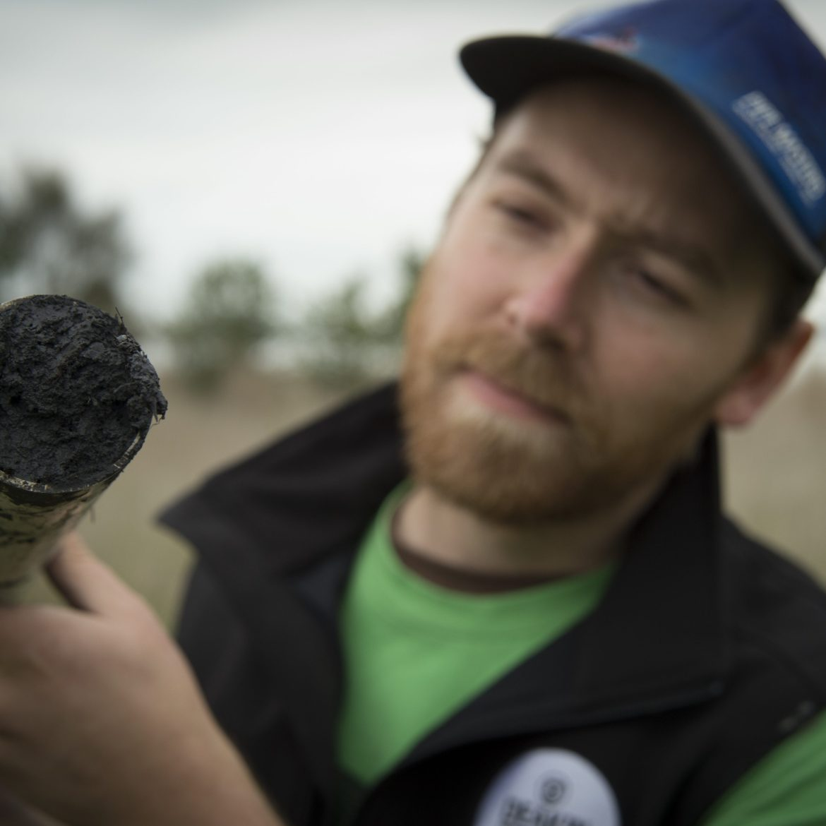 Dr. Paul Carnell collecting soil cores from Victoria's inland wetlands