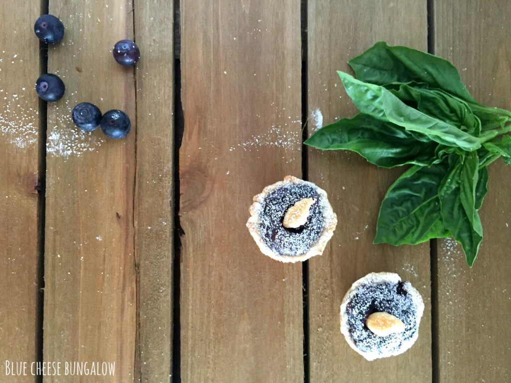 Blue Cheese Bungalow - mini basil berry pies