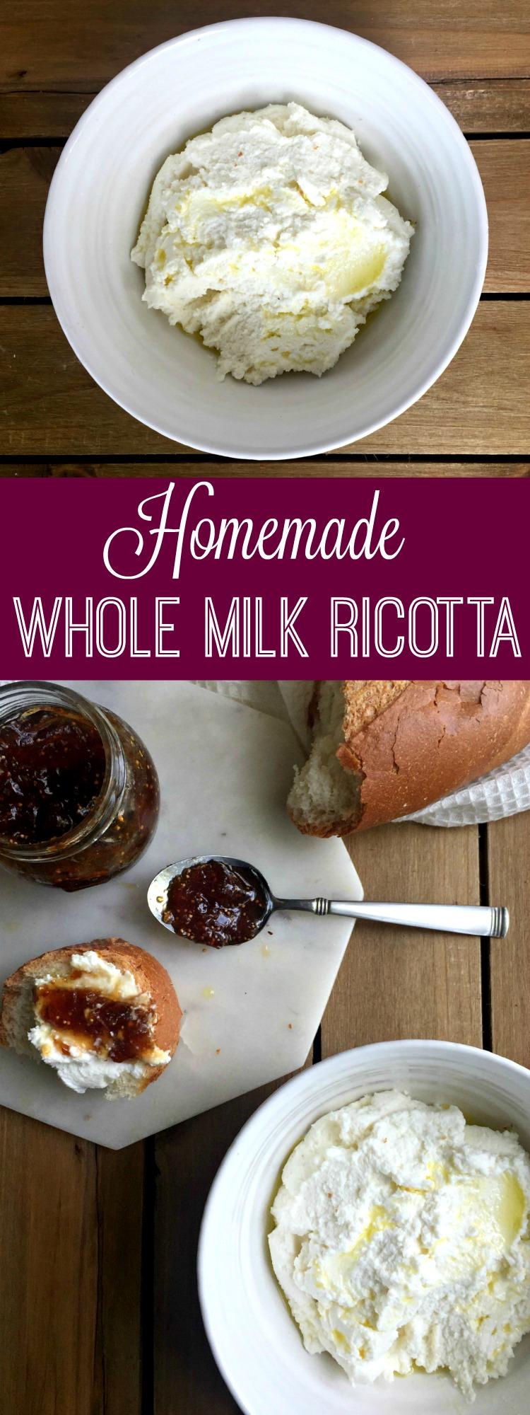 Homemade Whole Milk Ricotta Cheese