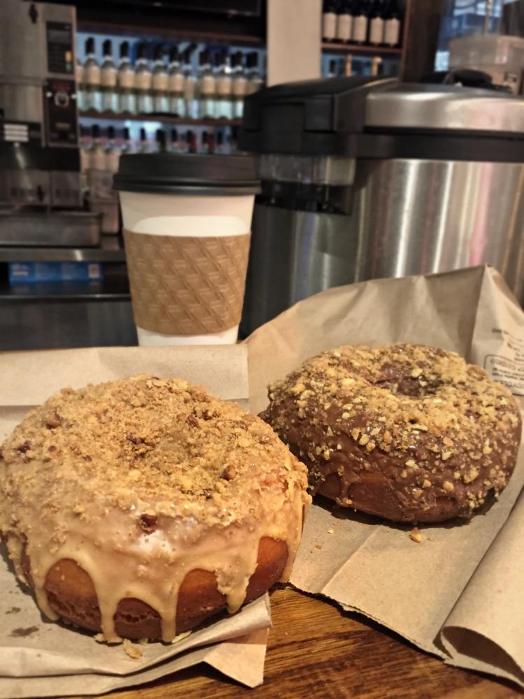 Mocha Almond Crunch and Café Au Lait Doughnuts